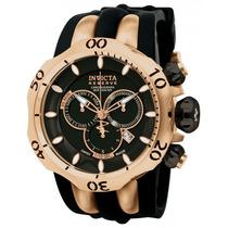 Relógio Invicta Reserve Venom 10830 Preto/rosê Original !