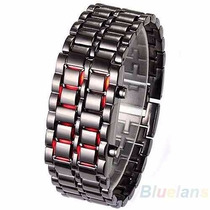 Samurai Metal Led Pulso Relógio,bracelete,pulseira,digital