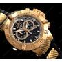 Relógio Invicta Cronógrafo Subaqua Suiço 5514 Plaque Ouro