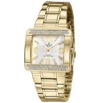 Relógio Champion Feminino Passion Quadrado Cn29105h C/pedras