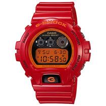 Relógio Casio G-shock Dw 6900cb 4ds 200 Mt Vermelho Alarme