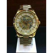 Relógio Luxo Michael Kors Mk9009 Automático Ouro Imaculado!