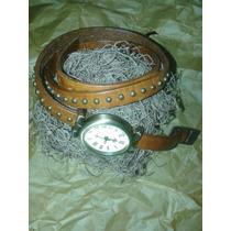 Relógio Feminino Pulseira Em Couro E Metal,leds E Vintages