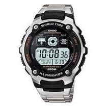 Relógio Casio Ae-2000 Wd Original Barato Manual Alarme Mundi