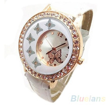 Relógio De Borboleta Com Strass Importado Pronta Entrega