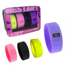 Relógio Infantil Teen Kit Troca Pulseiras Silicone Colorida