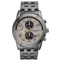 Relógio Luxo Michael Kors Mk8349 Chron Anal Prata & Gunmetal