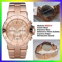 Relógio Michael Kors Mk5314 Ouro Rosê 43mm Oversized Novo !