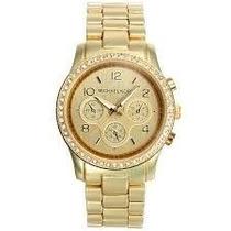 Lote De 4 Relógios Feminino Dourado Varios Modelos