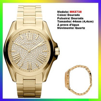 Relógio Michael Kors Mk5738 Gold 44mm Oversized Original !
