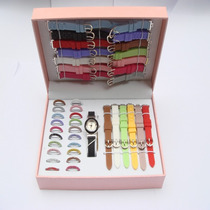 Kit Relógio Feminino Troca Pulseiras Em Silicone - Pequeno