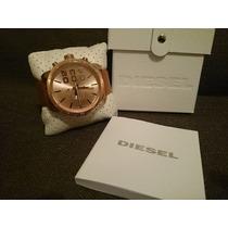 Relógio Luxo Dle-sel 52mm Dourado Couro Caixa Manual