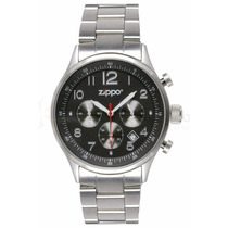 Relógio Zippo Black Face Pvd Stainless Steel Ba 45001