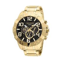 Relógio Technos Os20hr/4x Cronógrafo Dourado- 12x Sem Juros