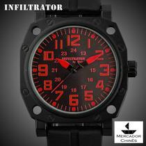 Relógio Infantry Infiltrator If-002 Vermelho Usa Police