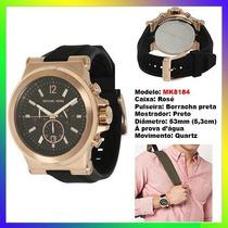 Relógio Michael Kors Mk8184 Ouro Rosê 53mm Oversized Novo !