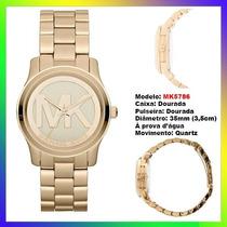 Relógio Michael Kors Mk5786 Dourado 36mm Midsized Original !