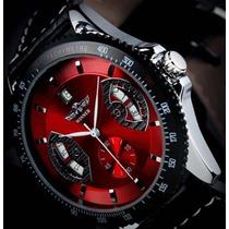 Relógio Masculino Automático Skeleton Luxo Várias Cores