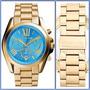 Relógio Michael Kors Mk5975 Azul Turquesa Original, 12x S/j