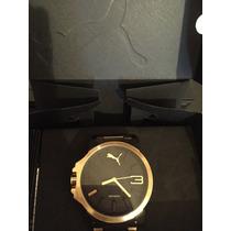 Relógio Puma Dourado! Novo Na Caixa !original!