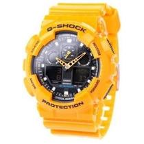 Relógio Casio G-shock Ga100a9a Amarelo Novo Original 01 Ano