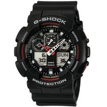 Relógio Cassio Original Ga1001a4dr Ga100 Preto Com Vermelho