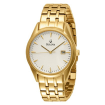 Relógio Bulova 97b109 Classico Masculino Dourado