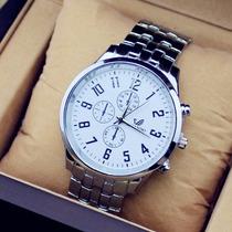Relógio Masculino Importado - Aço Inoxidável + Frete Grátis