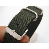 Pulseira Em Nylon, Verde, Para Relógios - Encaixe 20mm !