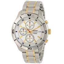 Relógio Seiko Masculino Sks403 Cronografo Misto Dourado