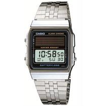 Relógio Casio Al180 Mvv 1df Classico Bateria Solar Prata