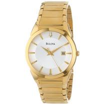 Relógio Bulova 97b108 Classico Masculino Dourado