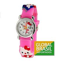 Relógio Infantil, Hello Kitty, Analógico! Várias Cores.