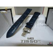 Pulseira De Couro Tissot Prc200 T17. T055. Azul - Original
