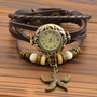 Relógio Feminino - Pulseira Couro Vintage - Importado