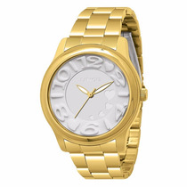 Relógio Lince Orient Feminino Lrgk013l B2kx Dourado Novo