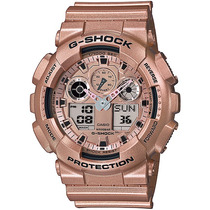 Relógio Casio G-shock Ga-100 Gd-9ad H.mundial 5 Alarmes 200m
