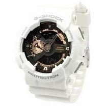 Relógio Casio G-shock Ga110rg 7a Branco E Dourado-rose Novo