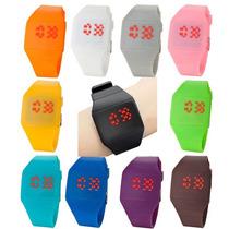 Relógio Led Digital Touch Screen,relógio De Luxo,varia Cores
