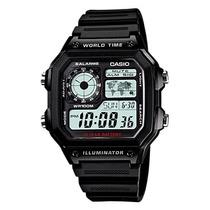 Relogio Casio Ae-1200 Wh 1a Horario Mundial 5 Alarmes 100m P