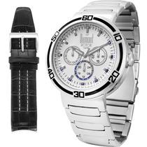 Relógio Aço Dumont Masculino Troca Pulseiras Rotor Du6p29abc