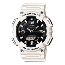 Relógio Casio Aq-s810 Tough Solar Branco 5 Alarmes 100mts