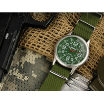 Relógio Pulso Verde Nylon Us Infantry Quartz Sport Army