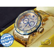 Invicta Scuba Pro Diver 80069 Swiss Banhado A Ouro18k
