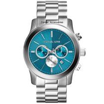 Relógio Michael Kors Mk5953 Prata Azul Original Frete Grátis