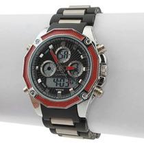 Relógio Pulso Militar Digital Sport Caixa De Aço Inoxidável