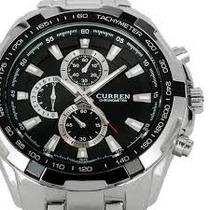 Relógio Currem Moda White Steel Importado Magnifico Fret Fre