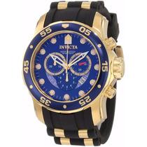 Relógio Invicta Scuba Diver 6983 Banhado Á Ouro 18k C Caixa