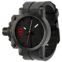 Relógio Oakley Gearbox Com Preto Detalhes Vermelho