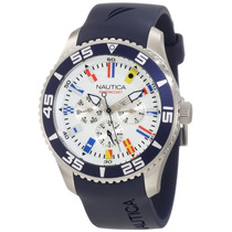 Relogio Masculino Nautica N12627g Nst 07 Flags